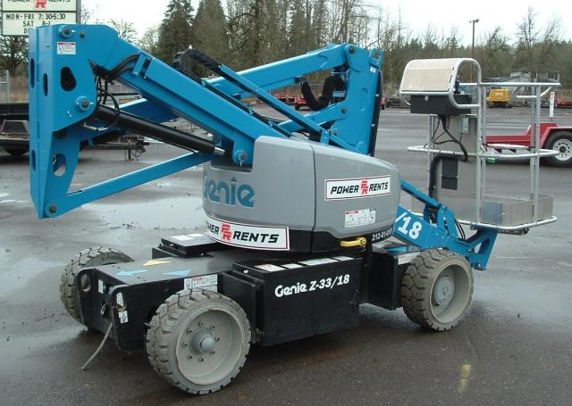Where to find Manlift Articulated 33  Electric LW in Portland